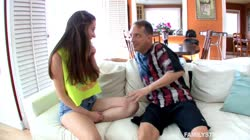 FamilyStrokes – Big Titted Teen Fucks Step Dad
