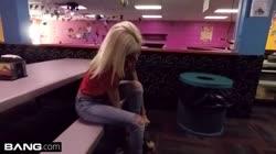 Tiny teen Kiara Cole goes from skating rink to sucking dick