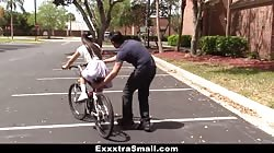 ExxxtraSmall - Cute Biker Learns To Ride Cock
