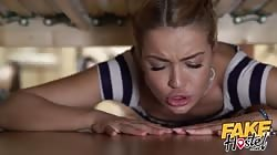 Fake Hostel Two hot girls get stuck under a bunk bed