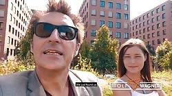 Old Man satisfies Latvian teen Mina in Berlin WOLF WAGNER wolfwagner.love